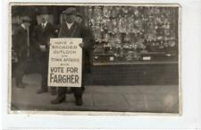 More details for vote for fargher: isle of man 1929 election postcard (c52452)