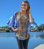 Silk Blend Kaftan Top with Embellishment
