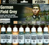 AV Vallejo WWII German Field Grey Uniforms Acrylic Paint Set For Models
