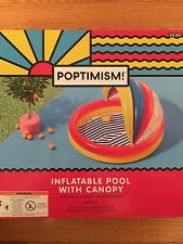 Poptimism Kids Inflatable Pool With Canopy Float Colorful Brand New
