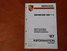 1987 Porsche 928S4 Shop Repair Manual - Mods Data Settings Wiring Diag WKD493421