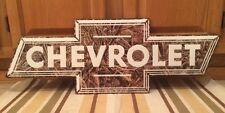 Chevrolet Camouflage Emblem Metal Real Tree Hunting Garage Decor Man Cave Motor
