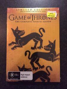 Game Of Thrones : Season 4 (DVD, 2015, 5-Disc Set) New Sealed Region 4