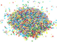1000 PERLES DE ROCAILLE MULTICOLORE MAT GIVRE Ø 2 mm 12/0 - CREATION BIJOUX