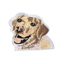 Labrador Dog (Iron on) Embroidery Applique Patch Sew Iron Badge