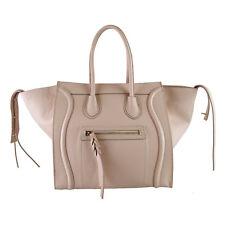 Women Lady Handbag Satchel Genuine Real Leather Togo Clutch celin style bag pink