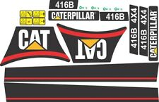 Caterpillar 416B Backhoe Decals / Adhesives / Stickers Complete Set