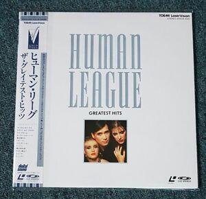 HUMAN LEAGUE - GREATEST HITS 1988 OBI JAPAN PRINT NTSC VIRGIN PHIL OAKEY LASER