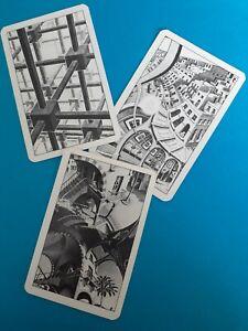 Genuine Vintage,Swap/playing cards, Artist, M.C.Escher, very unusul art,9-12-14.