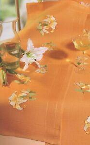 Stickpackung, Rico, Läufer, Blumen, Lilie,vorg. Plattstich, sticken, 40x100cm