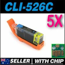 5x Cyan Ink for CANON CLI-526C for iP4850 iP4950 iX6550 MG5150 MG5250 MG5350