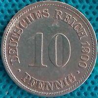PIÈCE MONNAIE ALLEMAGNE 1900 FF 10 PFENNIG Ref 0287 *