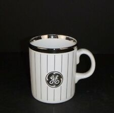 Vtg General Electric GE Coffee Mug Cup Silver Stripes Advertising England Tams