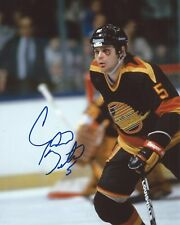 Garth Butcher Signed 8×10 Photo Vancouver Canucks Autographed COA B