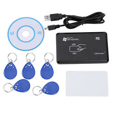 125KHz RFID/ID Card Reader Writer Copier Duplicator with 5 Cards/Tags Kit  AM