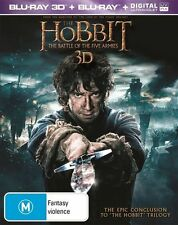 The Hobbit - Battle Of The Five Armies (Blu-ray, 2015, 4-Disc) Brand New (D118)