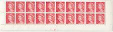 Stamps Australia 4c red QE2 in plate number 24 block of 20 from base of sheet
