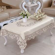 JH tablecloths Brown flower embroidered lace small coffee table tablecloth