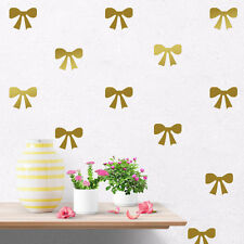 Set of 36 Pcs Bows Wall Stickers Removable Kids Vinyl Decal Art Decor Mural DIY