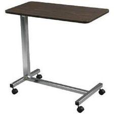 "Drive Medical Non-Tilt Top Overbed Table Walnut 28""-45""  EA/1 13067"