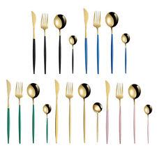 4x Stainless Steel Cutlery Set Tableware Dinner Steak  Fork Spoon
