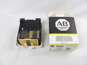 Allen Bradley, Control Relay, 700-F400A1, Type F, 120 VAC Coil, New in Box, NIB