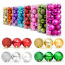 24Pcs Glitter Christmas Balls Baubles Xmas Tree Hanging Ornament Home Decor OU