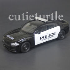 Welly 2016 Dodge Charger R/T Police Car 1:24 Diecast Model Car 28079 Black White