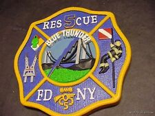 CODE 3 FDNY RESCUE 5 RESIN PATCH NEW YORK FIRE DEPT Blue Thunder Brooklyn SI art