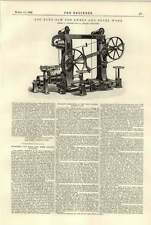 1896 Log Band Saw For Sweep And Bevel Work Ransome Chelsea