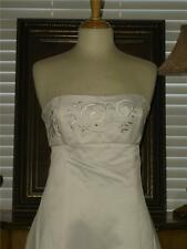 New Embroidered Cheap Price Jessica McClintock IVORY Wedding Dress Strapless 6