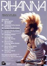RIHANNA - 2010 TOUR FLYER - GENUINE RARE LIVE MUSIC CONCERT PROMO