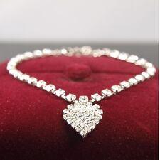 """9ct 9K """" Gold Filled """" ANKLET made with Swarovski Crystal 8"""" - 11"""" Bracelet b304"""