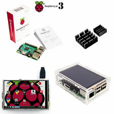 Raspberry Pi 3 Model B Board + 3.5 LCD Touch Screen Display + Acrylic Case