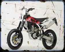 Husqvarna Sm450R 2009 1 A4 Metal Sign Motorbike Vintage Aged