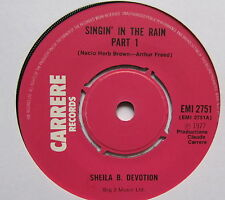 "SHEILA B DEVOUEMENT-Singin 'in the rain-EX vendeur 7"" SINGLE CARRERE EMI 2751"