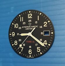 eterna matic airforce type A parts dial+hands automatic eta 2824-2,black