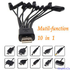 10 IN 1 UNIVERSAL USB MULTI CHARGER CABLE ADAPTER FOR MOBILE PHONE PSP CAR SP98