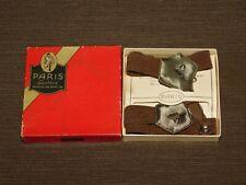 Vintage Clothing 1916 Stein & Co Men'S Paris Bronze Garters In Box New Old Stock