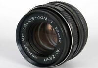 Lens helios 44m-7 2/58mm M42 Soviet Russia, with adapter for Canon, Nikon, Sony