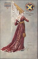 TUCK St. Albans Pageant - American YMCA Overprint - Lady of Rank Postcard