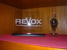 REVOX ETCHED GLASS SIGN