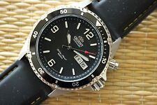 OLD STOCK DEMONSTRATOR ORIENT 200M STAINLESS STEEL TRIPLE BLACK DIVER'S WATCH