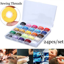 Sewing Thread Set  with Plastic Bobbins Sewing Machine Spools Case uk