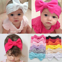 Toddler Girls Kids Baby Big Bow Hairband Headband Stretch Turban-KnotHeadWrapCAC