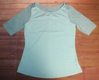 PrAna Kaylin Top Womens Small Breathable Recycled Polyester Dynasty Green Aqua