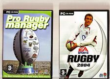 PRO RUGBY MANAGER 2004 & RUGBY 2004. 2 GREAT RUGGER GAMES FOR THE PC!!
