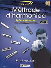 Auteur HERZHAFT David Méthode harmonica spécial débutants avec CD vol1