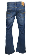 Men's LCJ Denim Flare Stretch Indie Jeans 70s Acid Bell Bottoms LC16 All Sizes