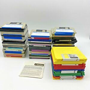 "136 - 3.5 Floppy Disk  3 1/2"" Floppy Disc Lot New & 1990s IBM Software Pc Dos"